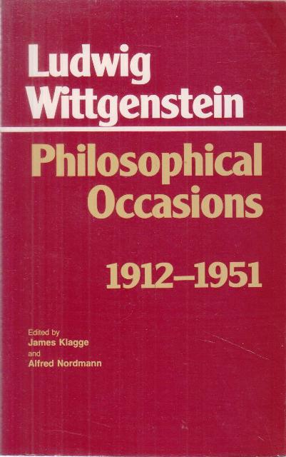 Philosophical Occasions 1912 - 1951
