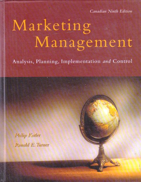 Marketing Management - Analysis, Planning, Implementation and Control